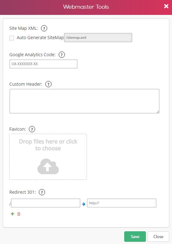 webmaster tools simbla
